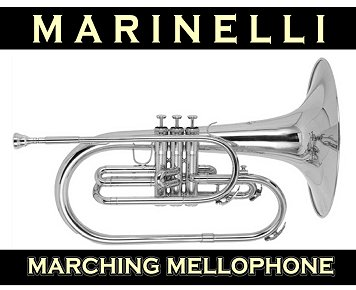 Silver Plated Mellophone